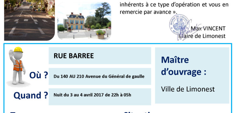 Info Travaux Avenue Général de Gaulle
