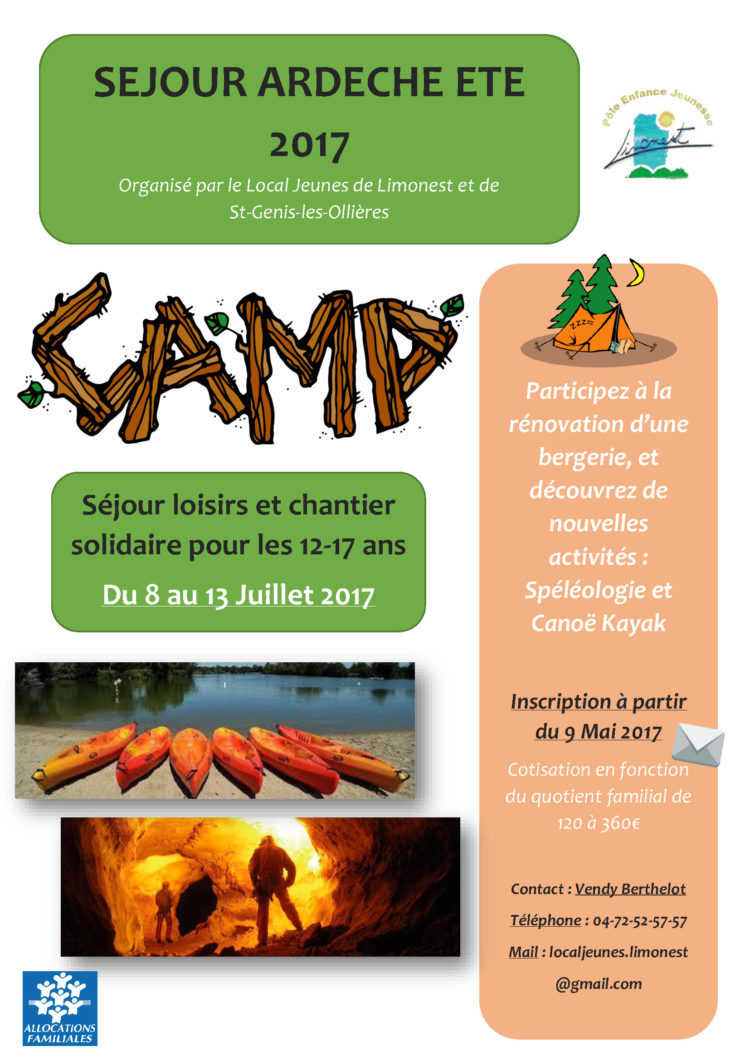 Séjour en Ardèche pour les 12-17 ans