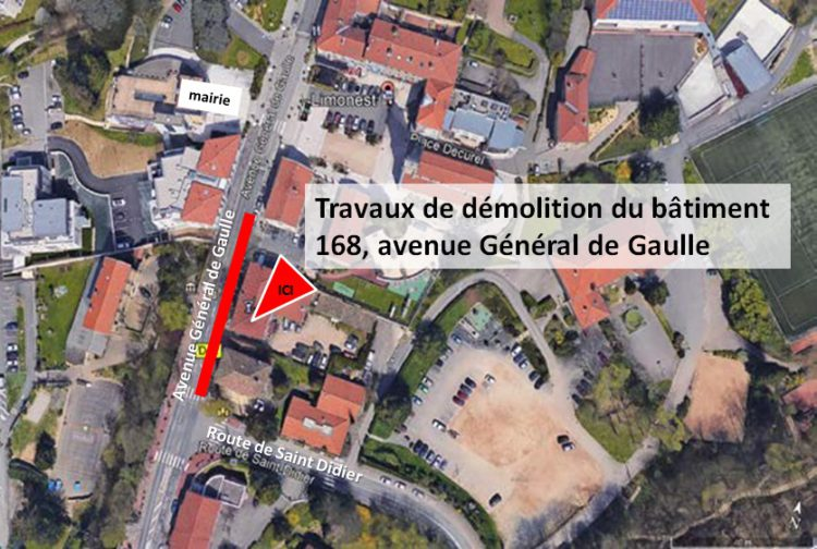 Info Travaux Démolition du bât 168 av. Gal de Gaulle