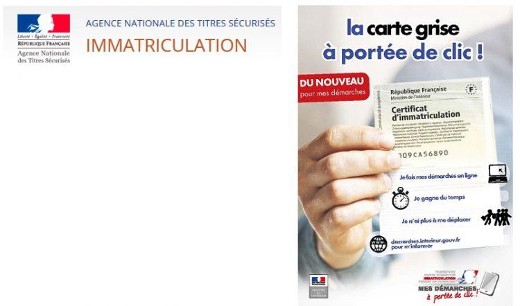 Votre demande de certificat d'immatriculation en ligne