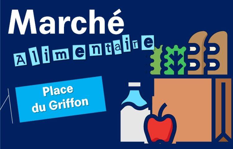 A/p du 6 Juin – Retour du Marché sur la place Griffon
