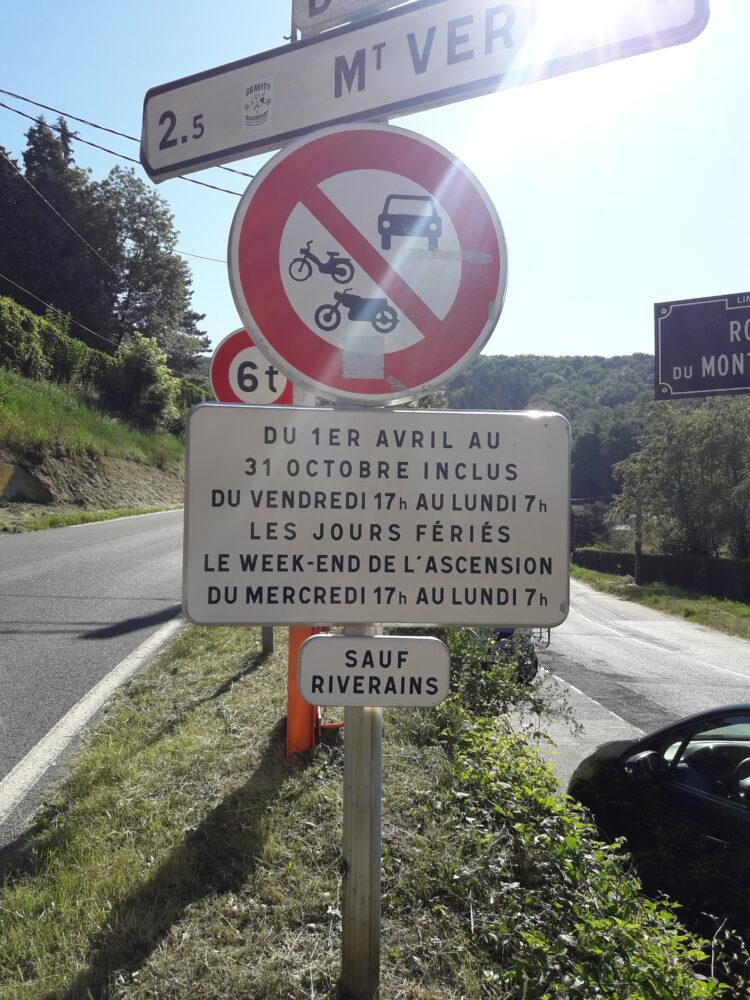 Route du Mont-Verdun fermée à la circulation les week-ends et jours fériés pendant la période estivale