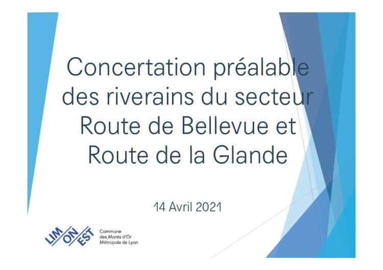 Projet de logements sur le secteur route de Bellevue/ route de la Glande