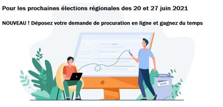 Élections régionales 20 et 27 juin : PROCURATIONS